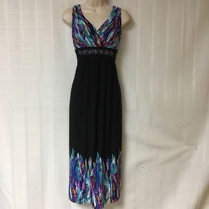 Dress Barn Multicolor Maxi Dress Size 6
